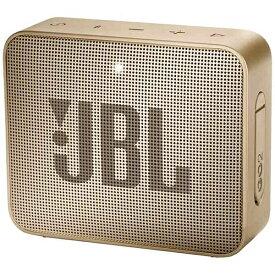 JBL 【ビックカメラグループオリジナル】ブルートゥーススピーカー JBLGO2CHAMPAGNE シャンパン [Bluetooth対応 /防水][スピーカー bluetooth 高音質 JBL GO 2]【point_rb】