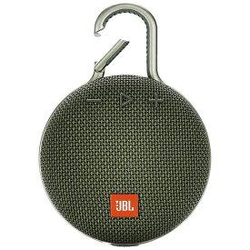 JBL ジェイビーエル 【ビックカメラグループオリジナル】ブルートゥーススピーカー JBLCLIP3GRN グリーン [Bluetooth対応 /防水][JBLCLIP3GRN]【point_rb】
