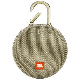 JBL ジェイビーエル 【ビックカメラグループオリジナル】ブルートゥーススピーカー JBLCLIP3SAND サンド [Bluetooth対応 /防水][JBLCLIP3SAND]【point_rb】