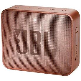JBL ジェイビーエル 【ビックカメラグループオリジナル】ブルートゥーススピーカー JBLGO2CINNAMON シナモン [Bluetooth対応 /防水][JBLGO2CINNAMON]【point_rb】