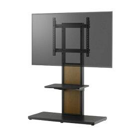 朝日木材 ASAHI WOOD PROCESSING 40〜55V型対応 壁寄せテレビスタンド SWING ブラックグレイン AS-WA800
