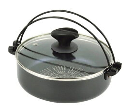 パール金属 PEARL METAL IHガラス蓋付すきやき鍋 NEW贅の極みブルーダイヤモンドコート HB-3256 [20cm /IH対応][HB3256]