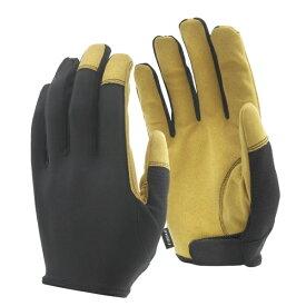 おたふく手袋 OTAFUKU GLOVE マイクロインサイドベルト (黒xキャメル S)