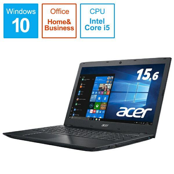 ACER エイサー E5-576-F54D/KF ノートパソコン Aspire E 15 オブシディアンブラック [15.6型 /intel Core i5 /HDD:500GB /メモリ:4GB /2018年11月モデル][E5576F54DKF]