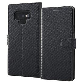 イングレム Ingrem Galaxy Note9 手帳型ケース カーボン IN-GN9LBC12/BB ブラック/ブラック