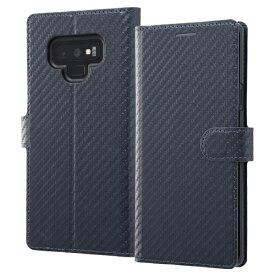 イングレム Ingrem Galaxy Note9 手帳型ケース カーボン IN-GN9LBC12/DN ダークネイビー