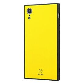 イングレム Ingrem iPhone XR 耐衝撃ガラスケース KAKU/イエロー IQ-P18K1B/Y イエロー