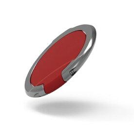 エレコム ELECOM スマートフォン用ストラップ フィンガーリング 薄型 レッド P-STRSLRD