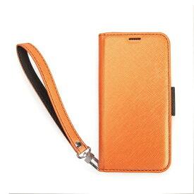 CORALLO コラーロ iPhone XS Max対応 NU手帳型合皮ケース CRI9LCSPLNUOB OrangeBlack