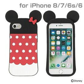 HAMEE ハミィ iPhone SE(第2世代)4.7インチ/ iPhone 8/7/6s/6専用 ディズニーキャラクター/シリコンケース(ミニーマウス) 276-895412