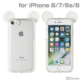 HAMEE ハミィ iPhone SE(第2世代)4.7インチ/ iPhone 8/7/6s/6専用 ディズニーキャラクターキラキラTPUケース(ミッキーマウス/クリア) 276-899007
