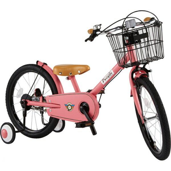 ピープル People 18型 子供用自転車 共伸びサイクル(ブルーミングピンク) YGA317【2019年モデル】[YGA317]【組立商品につき返品不可】 【代金引換配送不可】【メーカー直送・代金引換不可・時間指定・返品不可】