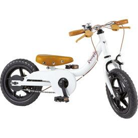 ピープル People 12型 子供用自転車 ケッターサイクル(ブルーミングホワイト) YGA311【2019年モデル】[YGA311]【組立商品につき返品不可】 【代金引換配送不可】【メーカー直送・代金引換不可・時間指定・返品不可】