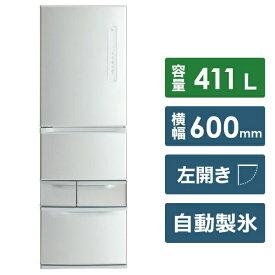 東芝 TOSHIBA 《基本設置料金セット》GR-P41GL-S 冷蔵庫 ベジータGLシリーズ片開きタイプ シルバー [5ドア /左開きタイプ /411L][GRP41GLS]
