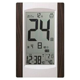 アデッソ ADESSO 掛け置き兼用時計 【ADESSO(アデッソ)】 ブラウン KW9256 [電波自動受信機能有]