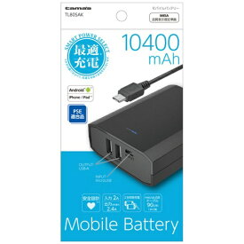 多摩電子工業 Tama Electric TL80SA モバイルバッテリー ブラック [10400mAh /microUSB /充電タイプ]