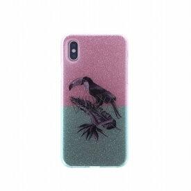 MSソリューションズ iPhone XS/X シェルケース グリッター Tropico