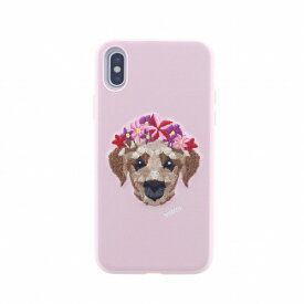 MSソリューションズ iPhone XS/X シェルケース 刺繍 Corona