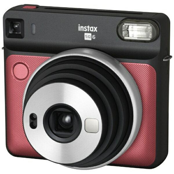 富士フイルム FUJIFILM インスタントカメラ 『チェキ』 instax SQUARE SQ6 ルビーレッド[INSSQ6RUBYRED]