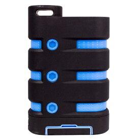 OWLTECH オウルテック [USB-C/micro USB/USB給電] USBモバイルバッテリー +micro USBケーブル 70cm+USB-C変換アダプタ 2.1A (7650mAh・1ポート) OWL-LIBP7801-BKBL ブラック × ブルー [7650mAh /1ポート]
