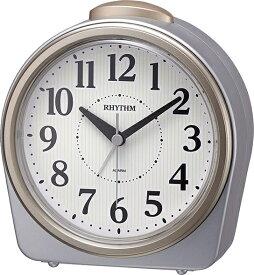 リズム時計 RHYTHM 目覚まし時計 フェイス645 シルバーメタリック色(白) 8RA645SR19 [アナログ]