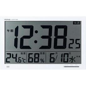 ノア精密 NOA 環境目安表示機能付き大型電波時計 エアサーチメルスター ホワイト W-602WH [電波自動受信機能有]