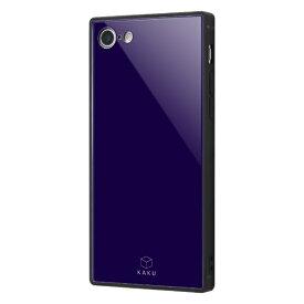 イングレム Ingrem iPhone SE(第2世代)4.7インチ/ iPhone 8/7 耐衝撃ガラスケース KAKU IQ-P7K1B/DN ダークネイビー