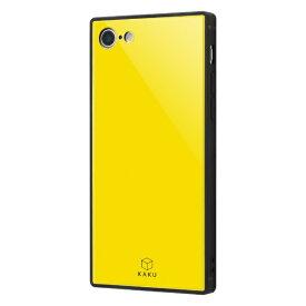イングレム Ingrem iPhone SE(第2世代)4.7インチ/ iPhone 8/7 耐衝撃ガラスケース KAKU IQ-P7K1B/Y イエロー