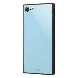 イングレム Ingrem iPhone SE(第2世代)4.7インチ/ iPhone 8/7 耐衝撃ガラスケース KAKU IQ-P7K1B/A ブルー