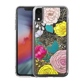 LAUT ラウ iPhone XR 6.1インチ用 LAUT GLITTER FLORAL LAUT_IP18-M_LG_GF
