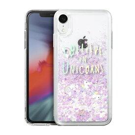 LAUT ラウ iPhone XR 6.1インチ用 LAUT GLITTER UNICORN LAUT_IP18-M_LG_UN