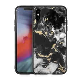 LAUT ラウ iPhone XS Max 6.5インチ用 LAUT MINERAL BLACK LAUT_IP18-L_MG_MB