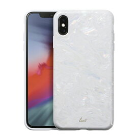 LAUT ラウ iPhone XS Max 6.5インチ用 LAUT PEARL ARCTIC PEARL LAUT_IP18-L_PL_W