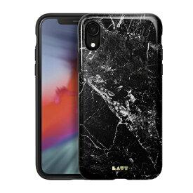 LAUT ラウ iPhone XR 6.1インチ用 LAUT HUEX ELEMENTS MARBLE BLACK LAUT_IP18-M_HXE_MB
