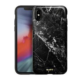 LAUT ラウ iPhone XS Max 6.5インチ用 LAUT HUEX ELEMENTS MARBLE BLACK LAUT_IP18-L_HXE_MB