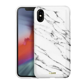 LAUT ラウ iPhone XS Max 6.5インチ用 LAUT HUEX ELEMENTS MARBLE WHITE LAUT_IP18-L_HXE_MW