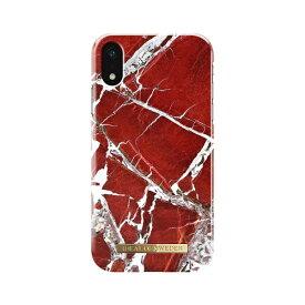 IDEAL OF SWEDEN iPhone XR用ケース スカーレットレッドマーブル IDFCS18-I1861-71