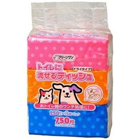 シーズイシハラ Cs ishihara クリーンワン トイレに流せるティッシュ 250枚×3個パック