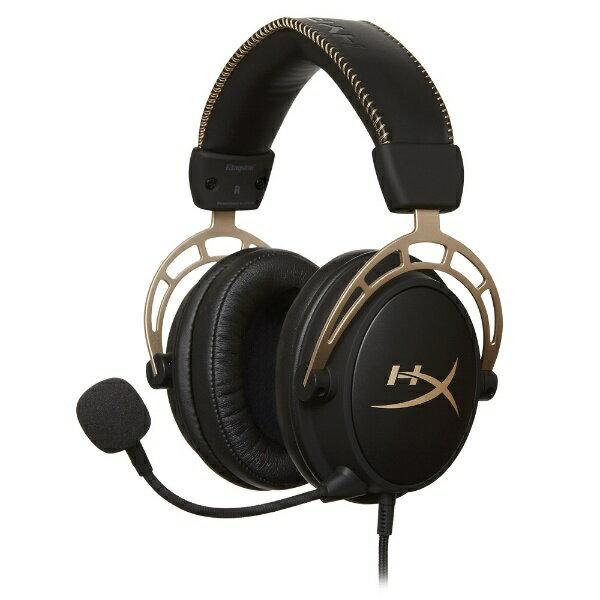 キングストン Kingston 有線ゲーミングヘッドセット HyperX Cloud Alpha Gaming Headset HX-HSCA-GD/NAP Gold[HXHSCAGDNAP]