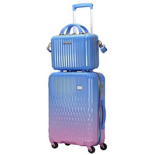 シフレ siffler LUNALUX(ルナルクス)スーツケース ハード ジッパーフレーム LUN2116-48BL/PK ブルー/ピンク [32L]