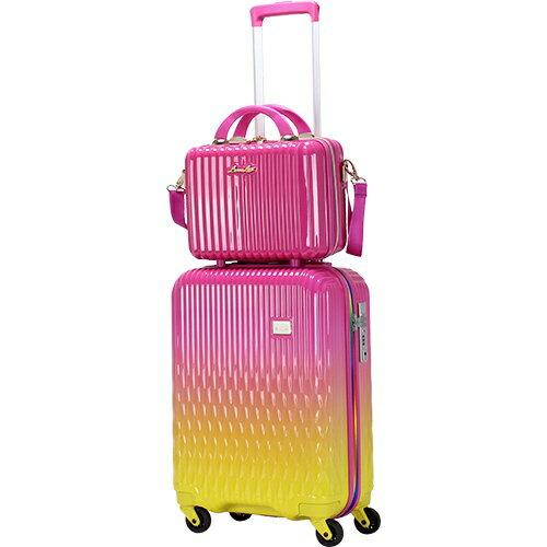 シフレ siffler LUNALUX(ルナルクス)スーツケース ハード ジッパーフレーム LUN2116-48PK/YE ピンク/イエロー [32L]