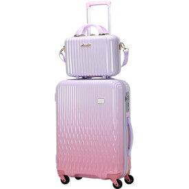 シフレ siffler LUNALUX(ルナルクス)スーツケース ハード ジッパーフレーム LUN2116-48WHPK/PK ホワイトピンク/ピンク [32L][LUN211648]