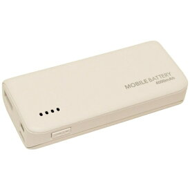 ラスタバナナ RastaBanana タブレット/スマートフォン対応[micro USB/USB給電] USBモバイルバッテリー +micro USBケーブル 2.1A ホワイト RLI040M2A01WH [4000mAh /1ポート /充電タイプ]