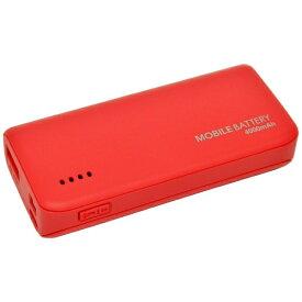 ラスタバナナ RastaBanana タブレット/スマートフォン対応[micro USB/USB給電] USBモバイルバッテリー +micro USBケーブル 2.1A ウォームレッド RLI040M2A01WR [4000mAh /1ポート /充電タイプ]