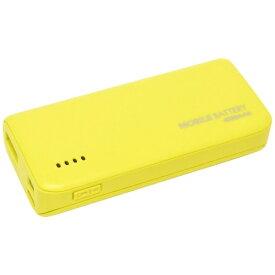 ラスタバナナ RastaBanana タブレット/スマートフォン対応[micro USB/USB給電] USBモバイルバッテリー +micro USBケーブル 2.1A ライムイエロー RLI040M2A01LY [4000mAh /1ポート /充電タイプ]