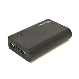 ラスタバナナ RastaBanana タブレット/スマートフォン対応[micro USB/USB給電] USBモバイルバッテリー +micro USBケーブル ブラック RLI060M2A01BK [6000mAh /2ポート /充電タイプ]