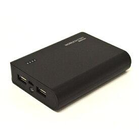 ラスタバナナ RastaBanana タブレット/スマートフォン対応[micro USB/USB給電] USBモバイルバッテリー +micro USBケーブル(2A/1A) ブラック RLI080M2A01BK [8000mAh /2ポート /充電タイプ]