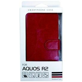 オズマ OSMA AQUOS R2用スタンド機能付き手帳型ケース BJSL-AQR2RD レッド
