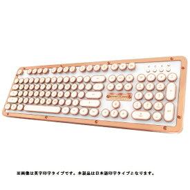 AZIO アジーオ MK-RETRO-BT-L-02-JP キーボード Retro Classic ポッシュ [Bluetooth・USB /有線・ワイヤレス][MKRETROBTL02JP]
