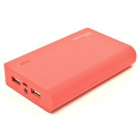 ラスタバナナ RastaBanana タブレット/スマートフォン対応[micro USB/USB給電] USBモバイルバッテリー +micro USBケーブル (2A/1A) ウォームレッド RLI100M2A01WR [10000mAh /2ポート /充電タイプ]